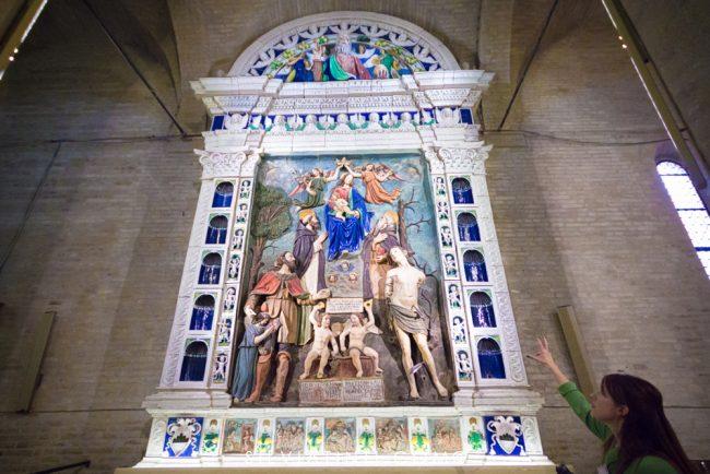 Montecassiano - Pala d'Altare di Mattia Della Robbia-1