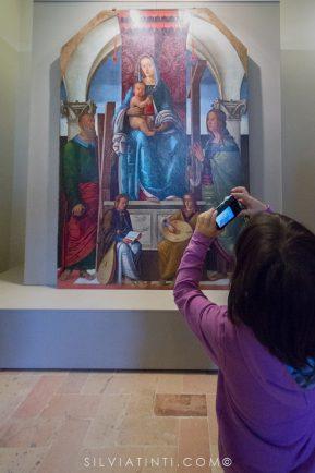 Montecassiano - Palazzo Compagnucci - Madonna con Bambino